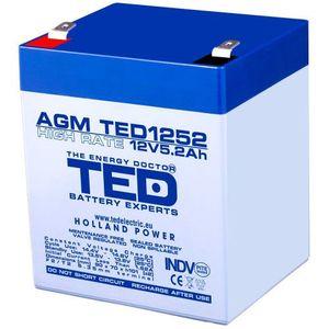 Acumulatorul stationar TED AGM VRLA 12V 5 2A imagine