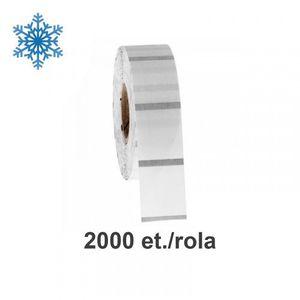 Role etichete de plastic ZINTA transparente 110x20mm pentru congelate 2000 et./rola imagine