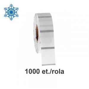 Role etichete de plastic ZINTA transparente 110x50mm pentru congelate 1000 et./rola imagine