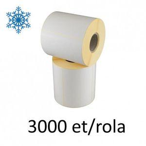 Role etichete semilucioase ZINTA 30x15mm pentru congelate 3000 et./rola imagine