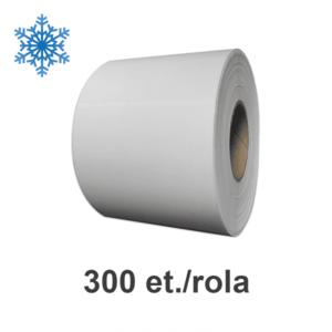Role etichete de plastic ZINTA albe 102x148mm pentru congelate 300 et./rola imagine