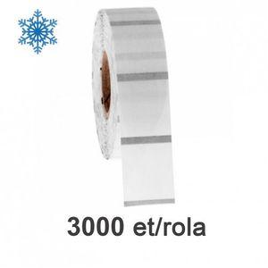 Role etichete de plastic ZINTA transparente 40x95mm pentru congelate 3000 et./rola imagine