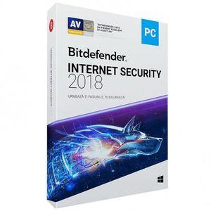 Bitdefender Internet Security 2018 1 PC 1 an licenta electronica imagine