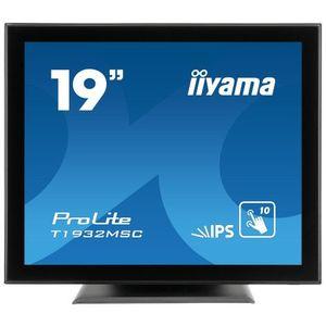 Monitor POS touchscreen iiyama ProLite T1932MSC 19 inch PCAP negru imagine