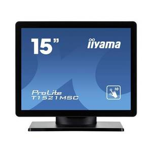Monitor POS touchscreen iiyama ProLite T1521MSC 15 inch PCAP negru imagine