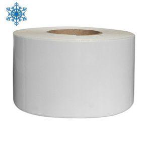 Role etichete continue plastic albe 110x50m pentru congelate imagine