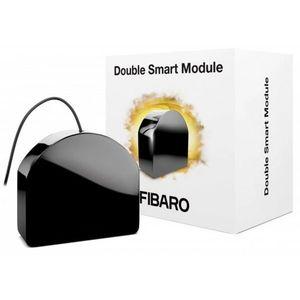 Modul de control Fibaro Double Smart Module FGS-224 ZW5, 868 MHz, Z-Wave Plus, RF 50 m, 2 canale, 9.5 A imagine