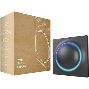 Intrerupator smart Fibaro Walli Switch FGWDSEU-221-8, 2 butoane, 16A, Z-Wave Plus, 868/869 MHz, RF 50 m, contor putere/consum, gri imagine