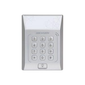 Cititor de proximitate cu tastatura RFID Hikvision DS-K1T801M, Mifare, 13.56 MHz, PIN/card, 3.000 carduri, 3.000 parole, watchdog imagine