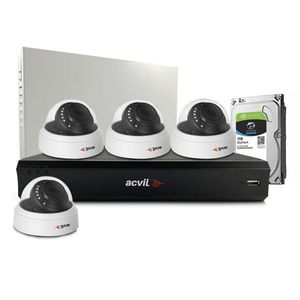 Sistem supraveghere interior middle Acvil Pro ACV-M4INT20-2MP, 4 camere, 2 MP, IR 20 m, 3.6 mm, POS, audio prin coaxial imagine