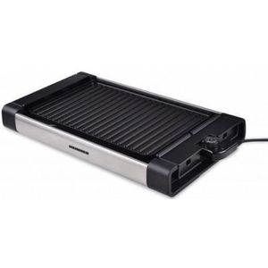 Gratar electric Heinner HEG-F1800, 1800W, Temperatura reglabila, Placa reversibila antiadeziva (Negru) imagine