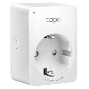 Priza Wi-Fi inteligenta TP-LINK Tapo P100, Schuko, compatibila Google Assistant si Amazon Alexa, programabila (Alb) imagine