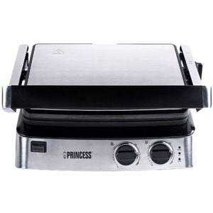 Gratar electric Princess 0111730001001, 2000W, 29x23 cm (Inox) imagine