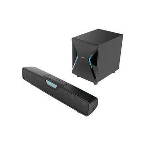 Soundbar Edifier G7000, Bluetooth, 86W, iluminare RGB, subwoofer wireless (Negru) imagine