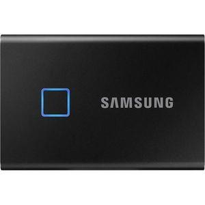 SSD Extern Samsung T7 Touch, 500GB, USB-C 3.1, Senzor de amprenta (Negru) imagine