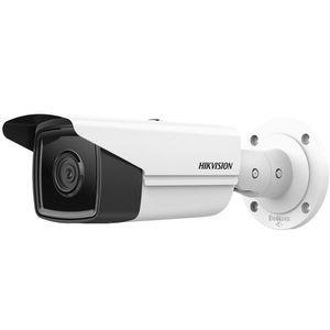 Camera supraveghere exterior IP Hikvision AcuSense DS-2CD2T43G2-4I, 4 MP, IR 80 m, 2.8 mm, slot card, PoE imagine