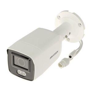 Camera supraveghere IP exterior Hikvision ColorVu DS-2CD2047G2-L, 4 MP, lumina alba 40 m, 2.8 mm, slot card, PoE imagine