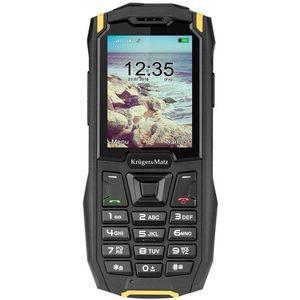 Telefon Mobil Kruger&Matz Iron 2, Ecran QVGA 2.4inch, 32MB RAM, 32MB Flash, 0.3MP, 2G, Dual Sim (Negru/Galben) imagine