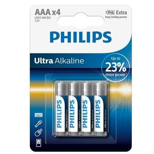 Baterii Philips Ultra Alkaline AAA, 4 buc imagine