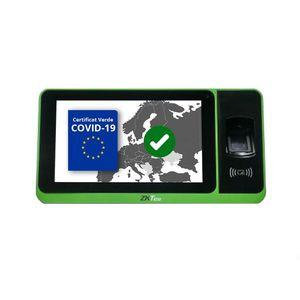 Scanner certificat verde COVID ZKTeco ZYNK-ZPAD-PLUS-QR-12-S, 4G, WiFi, 2 MP, ecran 7 inch tactil, RFID, amprenta, cod QR, bluetooth, plug and play imagine