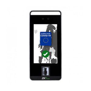Scanner certificat verde COVID ZKTeco VL-SPEEDFACE-V5L-QR-P-1-W, 2 MP, WiFi, ecran 5 inch tactil, recunoastere faciala cu masca, card, palma, cod PIN imagine