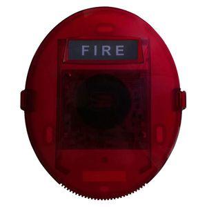 Sirena de incendiu cu LED conventionala UniPOS FD8204, 90 dB, 2 fire, ABS imagine