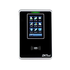 Cititor de proximitate pentru prezenta RFID ZKTeco TA-SC705ZMM-1-W, WiFi, ecran 3 inch, 10.000 carduri, 100.000 evenimente, PoE imagine