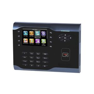 Controler de acces IP ZKTeco TA-ICLOCK-S500ZMM-12, RFID, ecran 3.5 inch, parola, 30.000 carduri, 200.000 evenimente imagine