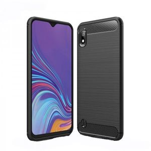 Husa Spate Forcell Carbon Pro Samsung Samsung Galaxy A10 Negru Silicon imagine